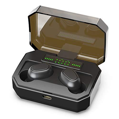 AYily Auriculares inalámbricos Auriculares Bluetooth,Auriculares inalámbricos Verdaderos,Auriculares de 5.0 Bluetooth Auriculares de Reserva ultralongonal,TWS con Caja de Carga magnética