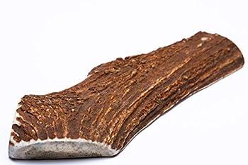 Dilecti Chevreuil à mâcher pour Chien – Bois de cerf Fendu pour Chien – Longue durée de Vie Naturelle (Taille XXL,151g-200g)