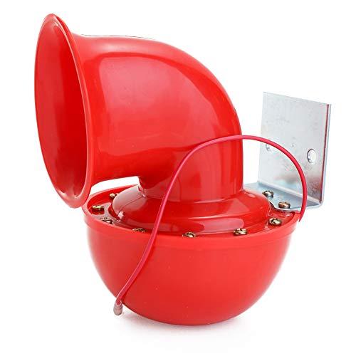 JIAOXM Retro Oldtimer Hupe, 12V 115BD Red Electric Bull Horn mit klassischem Vintage Sound für Auto Van Boot Fahrzeug Motorrad,A