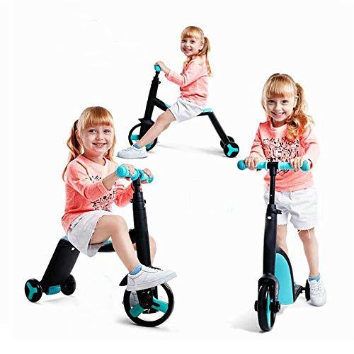Kinder Dreirad Fahrräder, Kinder Roller Trike Baby 3 in 1 Balance Fahrrad Fahrt auf Spielzeug Kinder Geschenk,Blue