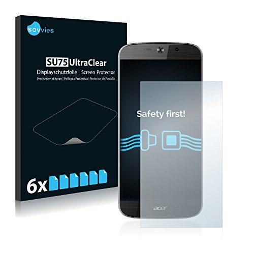 Savvies 6X Schutzfolie kompatibel mit Acer Liquid Jade Primo Bildschirmschutz-Folie Ultra-transparent