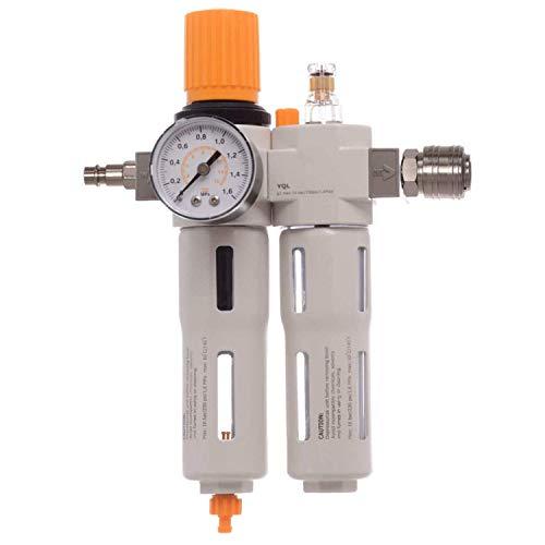 BESTE Druckluft Wartungseinheit 1/4 Druckminderer Öler für Kompressor Schlagschrauber Schnellkupplung