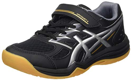 ASICS Upcourt Volleyball Shoe, Black/Pure Silver, 33 EU