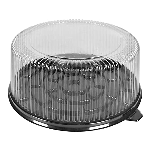 8' Cake Container - 10.5' Black Base - 4' Tall - 50/Case