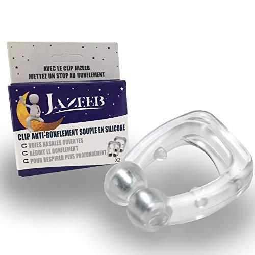 Clip Anti Ronflements Nasal en Silicone Souple - Anneau, Bague, Dispositif Efficace pour l'Apnée du Sommeil (2 Pièces)
