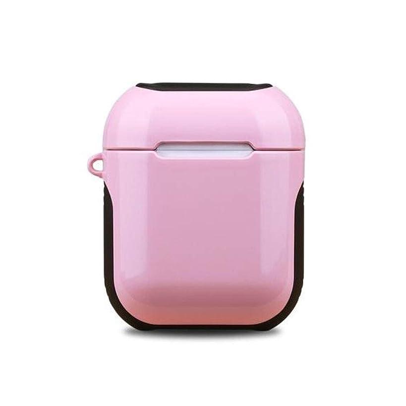 弓警察署小数Aishanghuayi001 Airpodsヘッドセット、シリコンワイヤレスBluetoothヘッドセット、1/2世代ユニバーサル、漫画かわいいハードシェルピンク 丈夫な服 (Color : Pink)