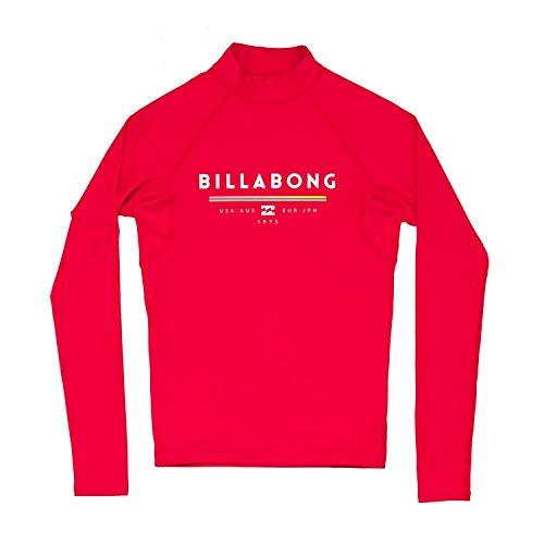 BILLABONG Kids Youth Junior Einheit Langarm Schnell Dry Leichte Rash Weste Top Rot. Atmungsaktiv - Leichtes Stretch