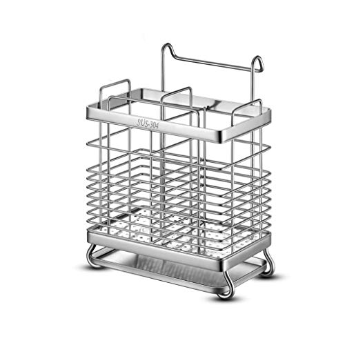 LLKK Portaposate,Gabbia per Bacchette,portaposate in Acciaio Inossidabile per Utensili da Cucina