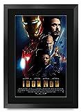 HWC Trading Iron Man A3 Incorniciato Firmato Regalo Visualizzazione delle Foto Print Immagine Autografo...