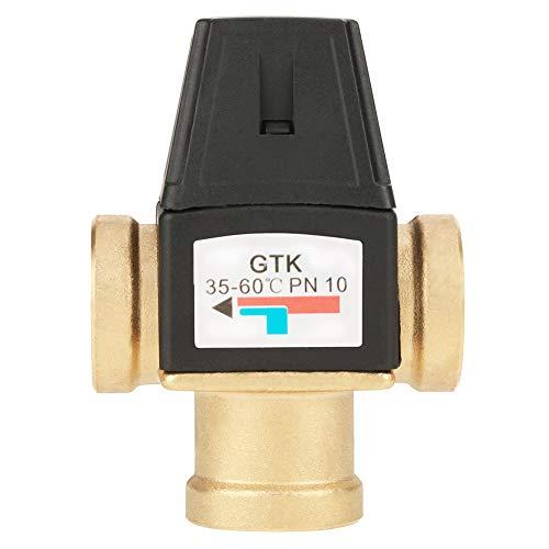 Válvula mezcladora termostática, válvula de latón de cierre automático de alto flujo, para calentador de agua solar Dispositivos de agua caliente domésticos Calefacción por suelo radiante