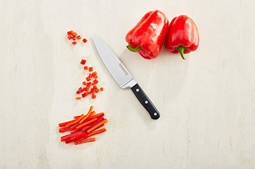 "KitchenAid KKFTR6CHOB Classic Forged Series Triple Rivet Chef Knife, Onyx Black, 6"""