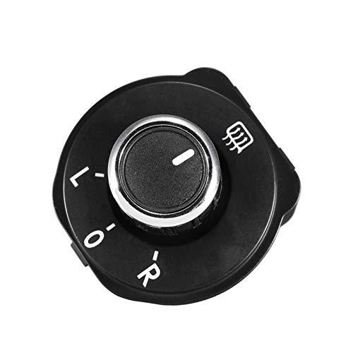 LICHONGUI Black Car Retroview Espejo Ajustar el Interruptor de botón Knob 6RD959565B para VW Polo 6R 2011-2016