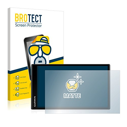 BROTECT 2X Entspiegelungs-Schutzfolie kompatibel mit Garmin Camper 770 LMT-D Displayschutz-Folie Matt, Anti-Reflex, Anti-Fingerprint