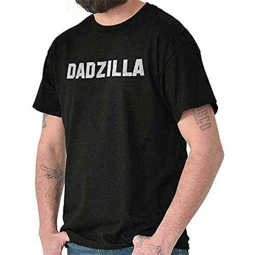 Dadzilla Greatest Best Dad Father Ever Gifts Mens Casual Crewneck T Shirts Black XXL