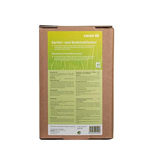 Emiko EM Bodenaktivator Inhalt: 5 Liter Bag in Box, flüssiges Bodenhilfsstoff-Konzentrat mit effektiven Mikroorganismen