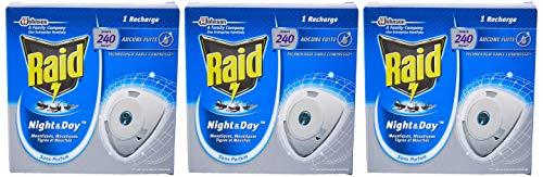 Raid Electrique Night&Day Recharge Mouches Moustiques/Tigres 240 Heures - Lot de 3