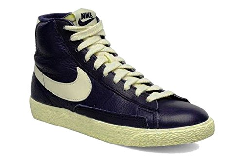Nike Blazer Vintage Womens Leather Upper Mid Boots in Navy Blue - 3 UK