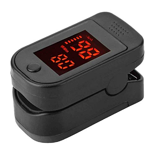 Vinger Pulse Oxygen Saturation Monitor Blood Oximeter Bloeddrukmeters Health Care Tool AQUILA1125 (Color : Black)