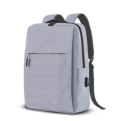 Travel Laptop Backpack, UBS Charging Port Backpack, Casual Business Anti-theft Durable Laptop Backpack, Ergonomic Design, School Girls & Girls Laptop Pack Gift Fit 15.6 'Laptop (Light grey)