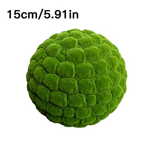 Rubyu 1PCS Simulation Mooskugel Dekoration, Einzigartige Living Grüne Kugelförmige Pflanzen, Deckendekoration Moss Balls