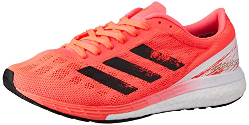 adidas Men's Adizero Boston 9 m Running Shoe, Signal Pink Core Black Copper Met, 7 UK