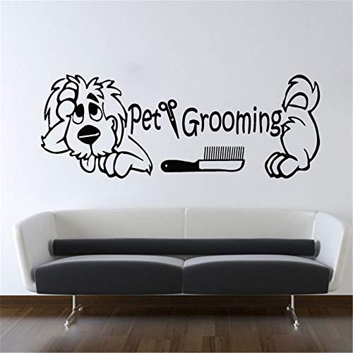 wandtattoos feuerwehr sam Schere mit Hundepflege niedlichen Salon Schere niedlichen Hunde Muster Wandbilder Home Art Decor Aufkleber für Pet Shop