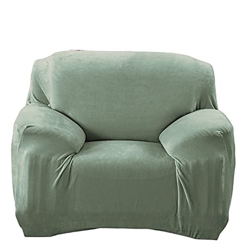 ERFD Sofá de Felpa de Terciopelo Moderno de 1 Pieza, sofá elástico Alto, Silla de Sala de Estar, sillón de Lujo, Funda de sofá de Terciopelo Grueso, Lavable a máquina J