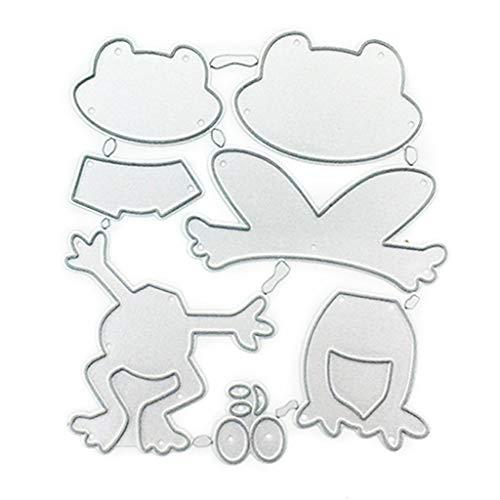 Koehope Stanzformen Frosch Set Stanzschablonen Metall Schneiden Schablonen für DIY Cutting Dies Scrapbooking Album, Schneiden Schablonen Papier Karten Sammelalbum Deko