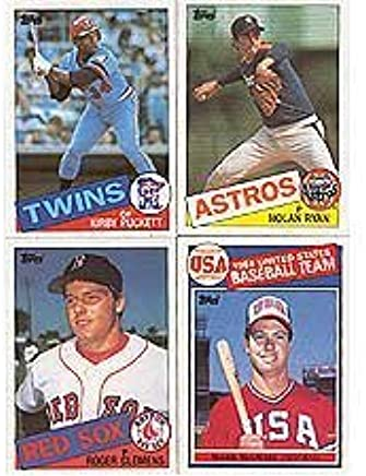 1985 Topps Baseball Complete 792 Card Set With Kirby Puckett