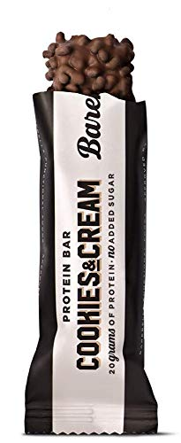 Barebells Cookies and Cream High Protein and Low Carb Bar, 12 x 55g (1,94 oz) Low Sugar Snack Protein Bar with 20g protein Missouri