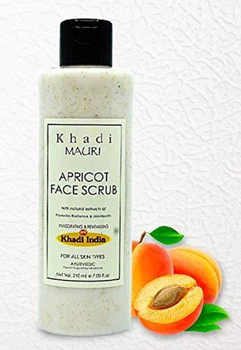Khadi Mauri Herbal Apricot Face Scrub Dead Skin Remover & Revitalises Health, 210 Ml