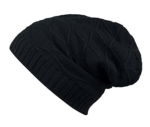 WATERFLY Unisex Winter Warm Cable Knit Thick Beanie Hats Cap for Outdoors Sports