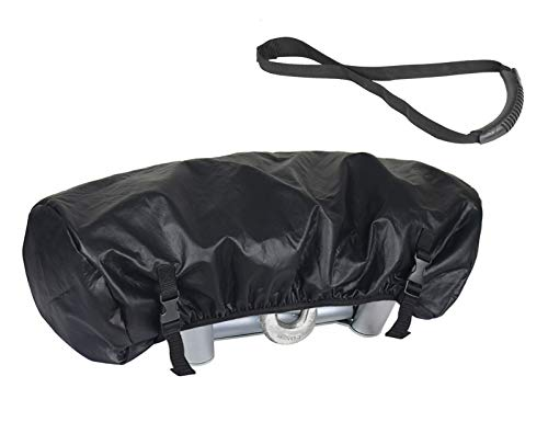 Explore Land Waterproof Universal Winch Cover - Dust Resistant Winches Cover 23.5 x 9.5 x 8 inch - Fits Electric Winches Up to 17,500 lbs