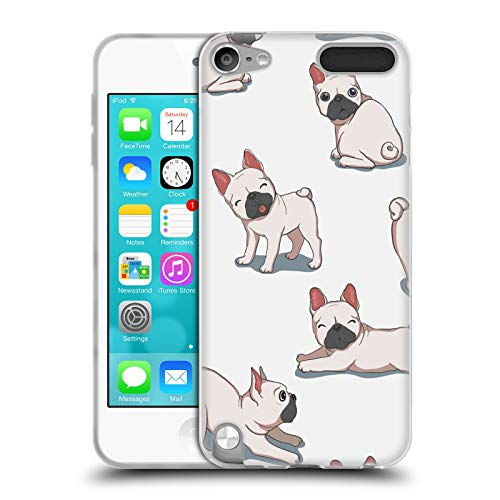 Head Case Designs Officially Licensed Haroulita French Bulldogs Cats and Dogs Soft Gel Case Compatible with Apple iPod Touch 5G 5th Gen