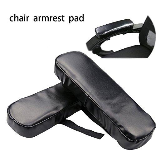 Holoras - Juego de 2 almohadillas para reposabrazos de silla de oficina con espuma viscoelastica para alivio de codos