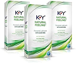 Personal Lubricant, K-Y Natural Feeling with Aloe Vera Sex Lubricant, 5.7 oz, Pack of 3,..