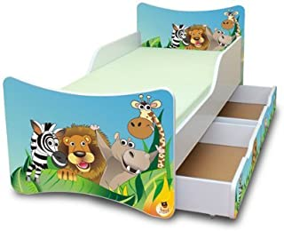Best For Kids Children s Bed with Foam Mattress with T V CERTIFIED 90x200 WITH TWO DRAWERS DESIGNS     Kids     Zoo