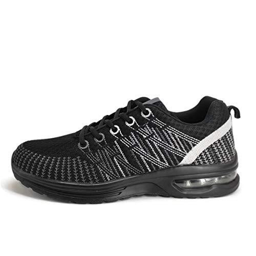 Deportivos de Hombre| Zapatillas de Deporte Ligeras|Playeras para Diario|Tenis Negro|Bambas Camara de Aire|Flexibles y Cómodas (41)