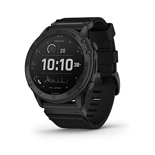 Garmin tactix Delta Solar with Ballistics, Specialized Tactical Watch with Solar Charging Capabilities, Ruggedly Built to Military Standards, Night Vision Compatibility, Black