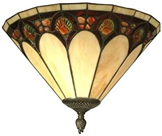 Dale Tiffany Lamps TW11154 Crystal Jeweled Pebble Stone Wall Sconce, Antique, Bronze