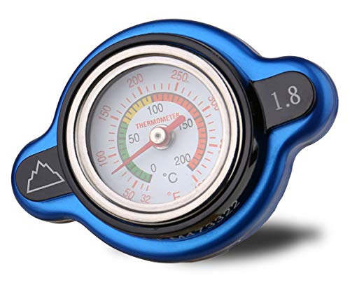 Summit High Pressure Radiator Cap with Temperature Gauge - 1.8 kg (1.8 Bar, 25.6psi), Fits select Arctic Cat, Kawasaki, Yamaha, Polaris, Suzuki, Honda models
