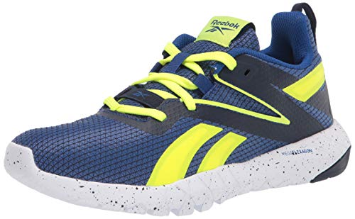 Reebok mens MEGA FLEXAGON, Dark Royal/vector Navy/Solar Yellow, 10 M US