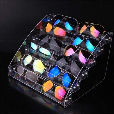 MUY Schmuck Brille Professional 30cm Länge Acryl Sonnenbrillen Display Stand Brillen Showing Rack Box Showcase Holder Abnehmbar
