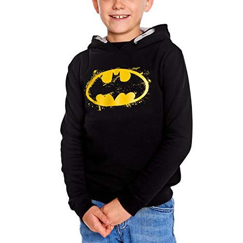Felpa con Cappuccio per Bambini Batman Logo con Cappuccio in Cotone Nero - 152