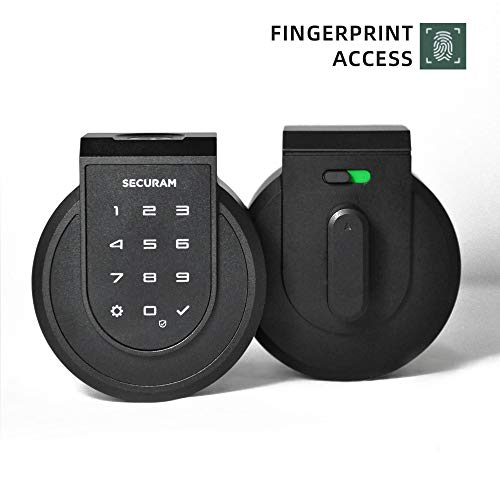 SECURAM Touch Fingerprint Smart-High Security Electronic Deadbolt for Entry Door with Finger ID or Keypad Access | Works with iOS and Android | Alexa Compatible (2-Black)