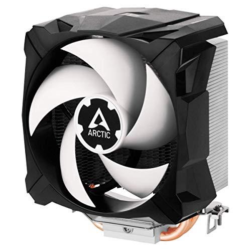 ARCTIC F12 TC - 120 mm Ventilador de Caja para CPU con Control de Temperatura, Motor Muy Silencioso con Exclusivo Sistema Antivibración, Computadora, 300-1350 RPM - Negro/Blanco