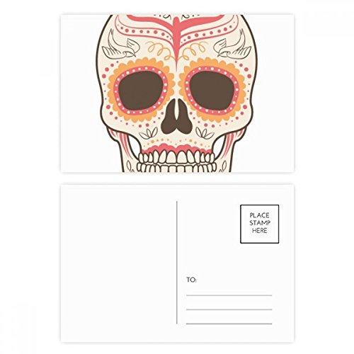 DIYthinker Blumen-Vogel Cirrus Rosa Schädel-Illustration Postkarten-Set Geburtstag dankt Karte Mailing Side 20pcs 5.7 Zoll x 3.8 Zoll Mehrfarbig