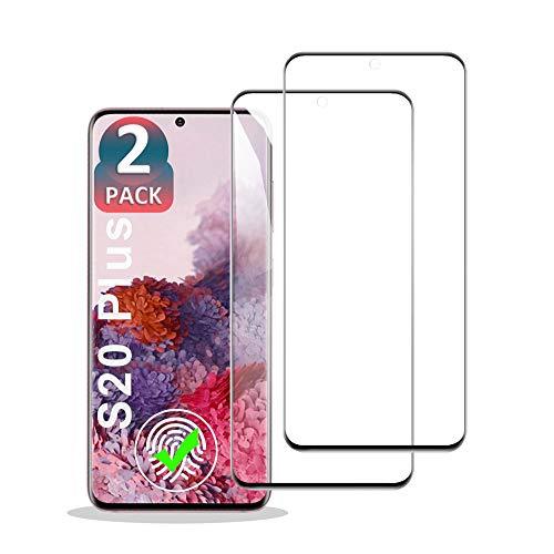 EAWEN Galaxy S20 Plus 3D Full Coverage Panzerglas Schutzfolie,2 Stück Panzerglas Displayschutzfolie für Samsung Galaxy S20 Plus- Gehärtetem Glass/9H Härte/Anti-Kratzer