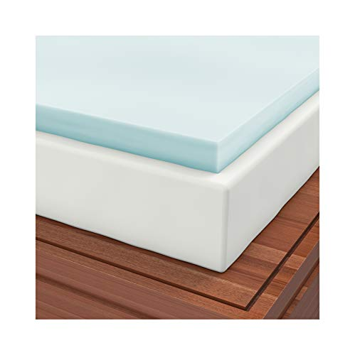 Waterproof Cover Included with Queen 2 Inch Soft Sleeper 6.5 Visco Elastic Memory Foam Mattress Topper USA Made