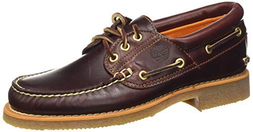 Timberland Stanwood 3 Eye, Scarpe da Barca Uomo, Marrone MD Brown Full Grain, 50 EU